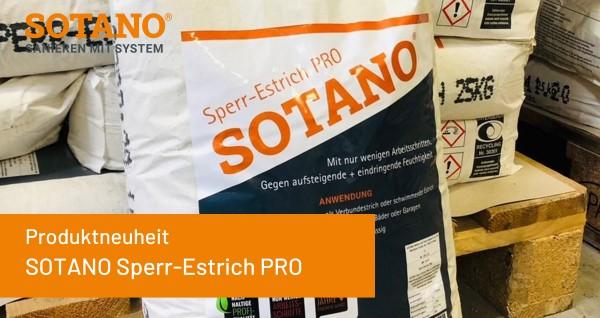 Produktneuheit-Sperr-Estrich-Pro